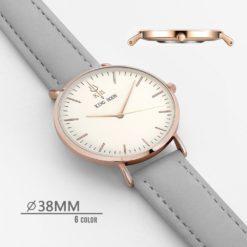 Zegarek King Hoon Star szary złoty biały 7