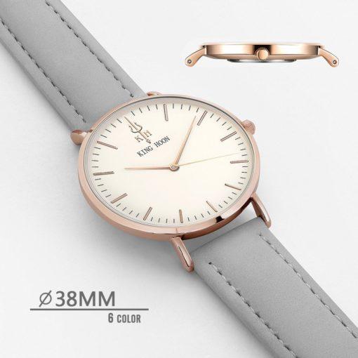 Zegarek King Hoon Star szary złoty biały 1