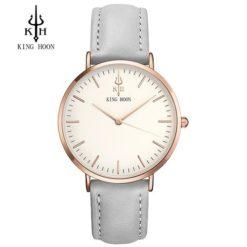 Zegarek King Hoon Star szary złoty biały 12