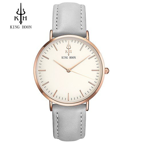 Zegarek King Hoon Star szary złoty biały 6