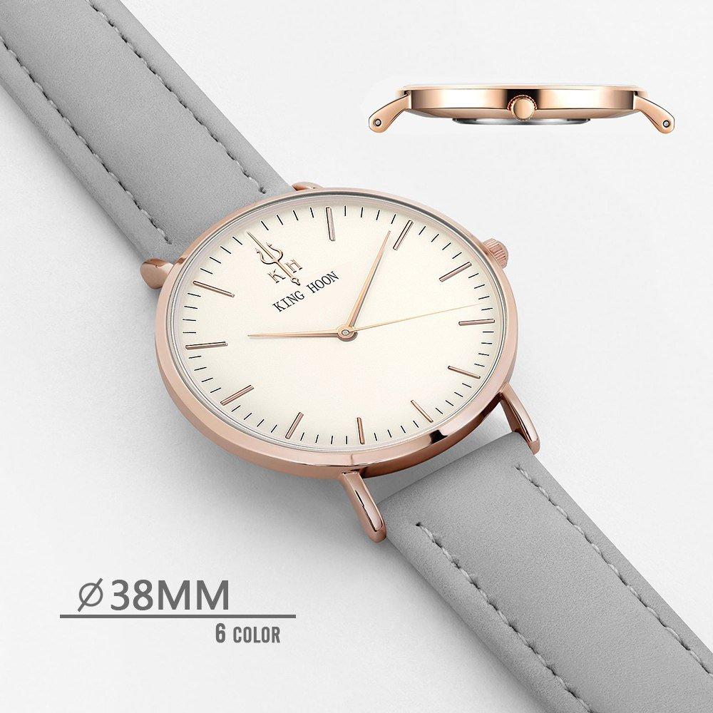 Zegarek King Hoon Star szary złoty biały 14