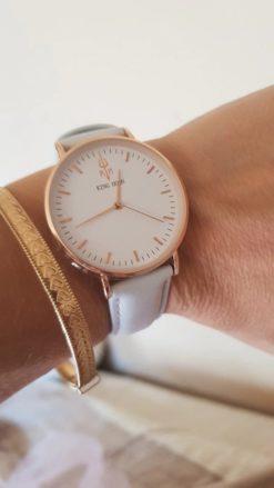 Zegarek King Hoon Star szary złoty biały 11