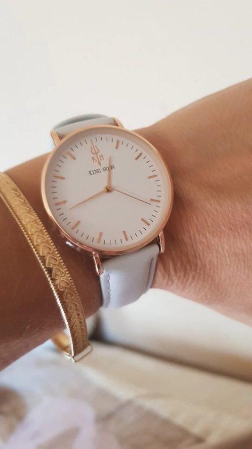 Zegarek King Hoon Star szary złoty biały 5