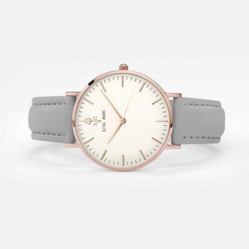 Zegarek King Hoon Star szary złoty biały 4