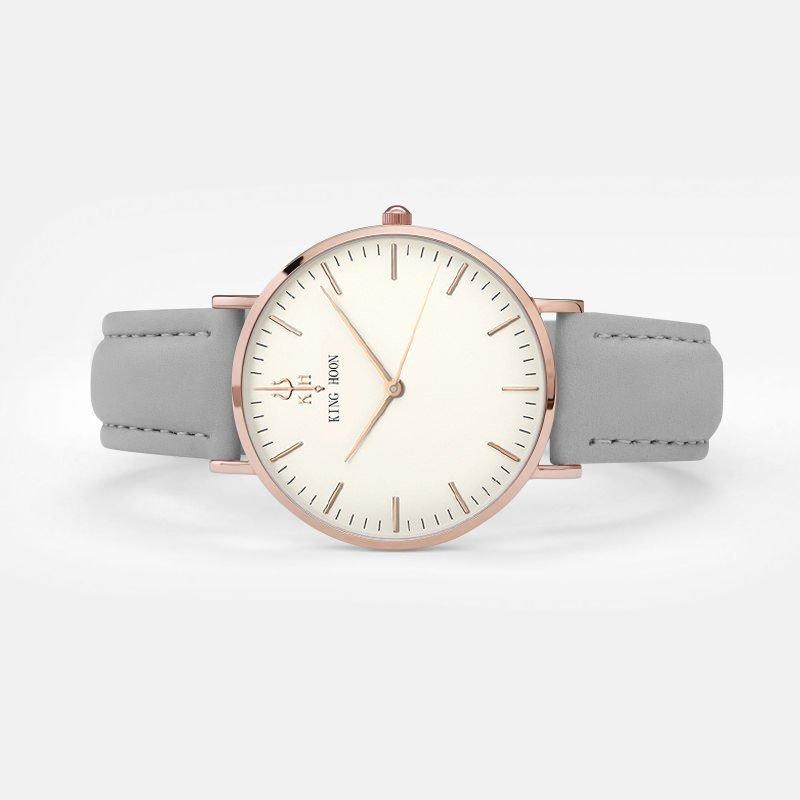 Zegarek King Hoon Star szary złoty biały 16