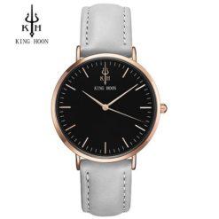 Zegarek King Hoon Star szary złoty czarny 3