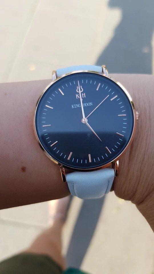 Zegarek King Hoon Star szary złoty czarny 6