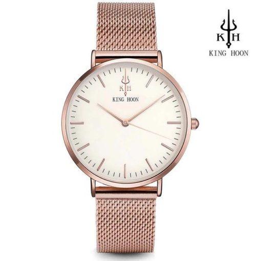 Zegarek King Hoon Star miedziany biały 1