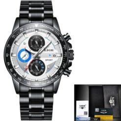 Zegarek Lige Revision czarny niebieski