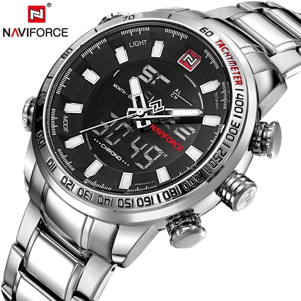 Zegarek Naviforce Rigor srebrny biały 6
