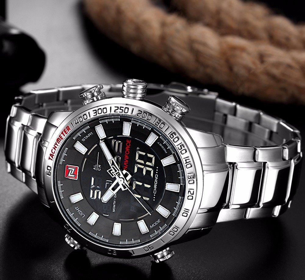 Zegarek Naviforce Rigor srebrny biały 7