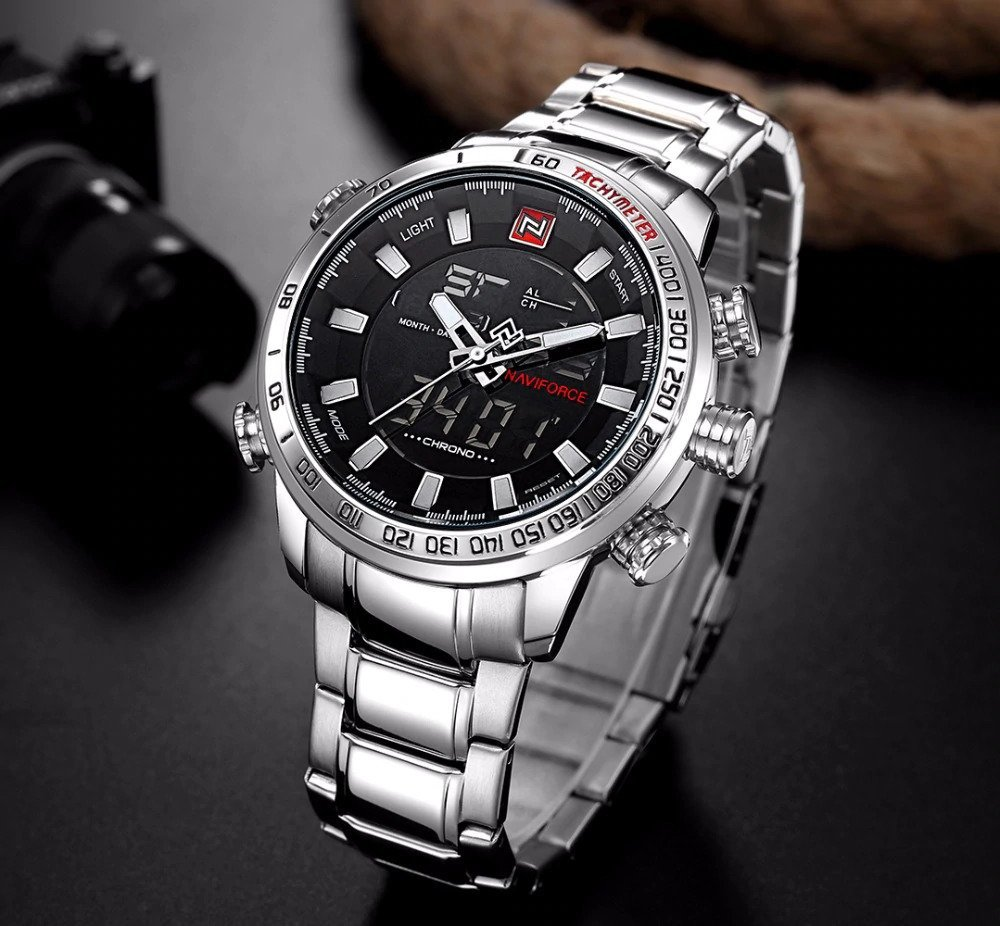 Zegarek Naviforce Rigor srebrny biały 8