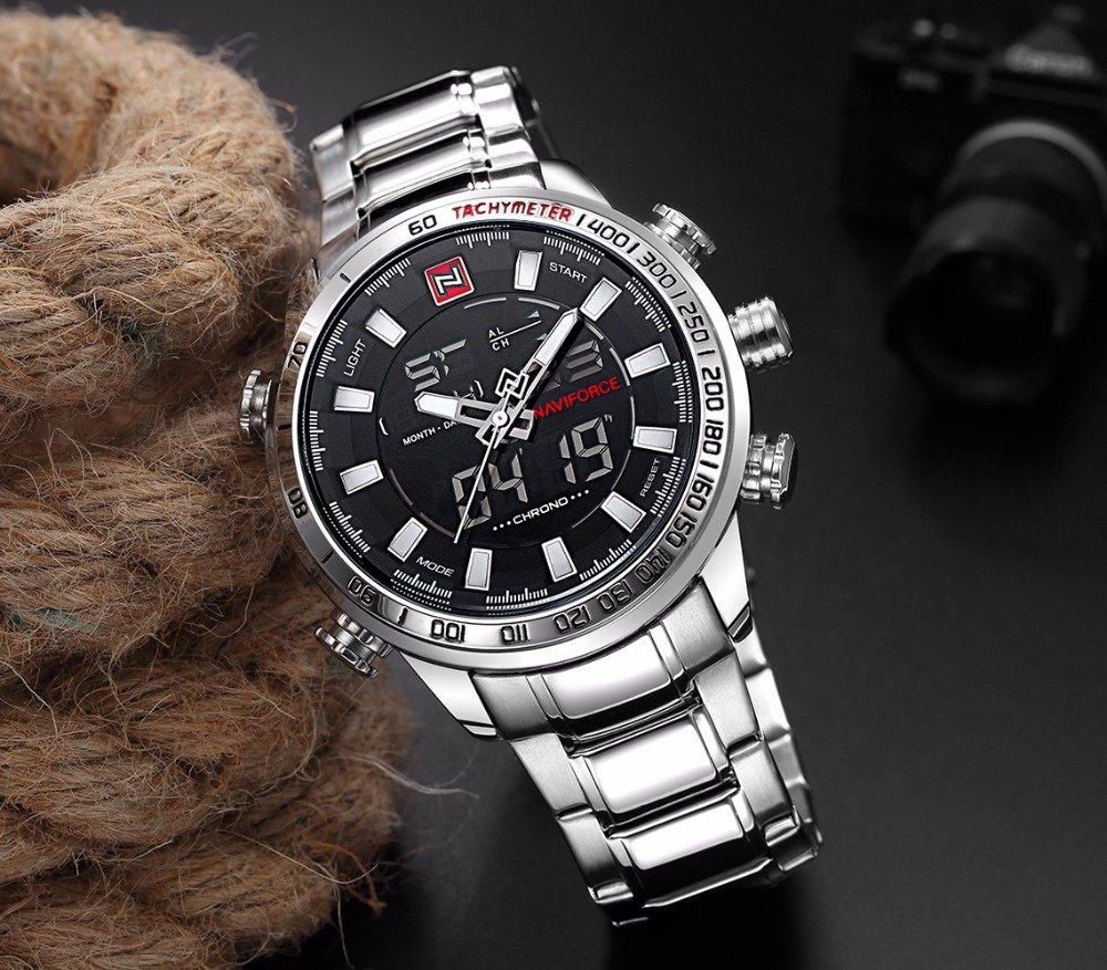 Zegarek Naviforce Rigor srebrny biały 9