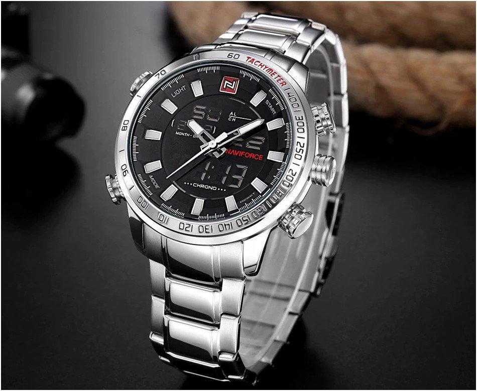 Zegarek Naviforce Rigor srebrny biały 10