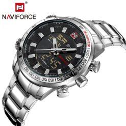 Zegarek Naviforce Rigor srebrny biały 5