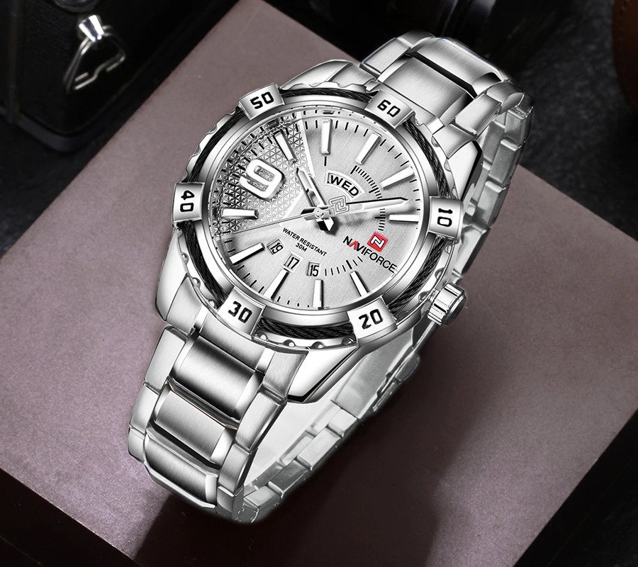 Zegarek Naviforce Rope srebrny 5