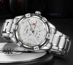 Zegarek Naviforce Rope srebrny 2