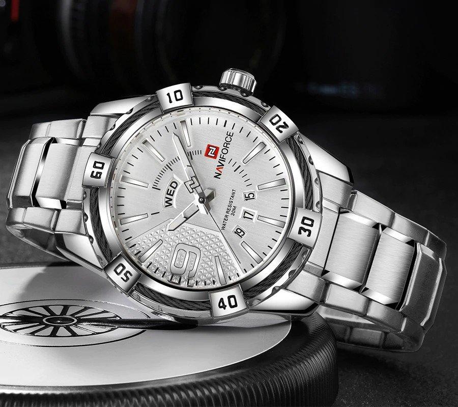 Zegarek Naviforce Rope srebrny 6