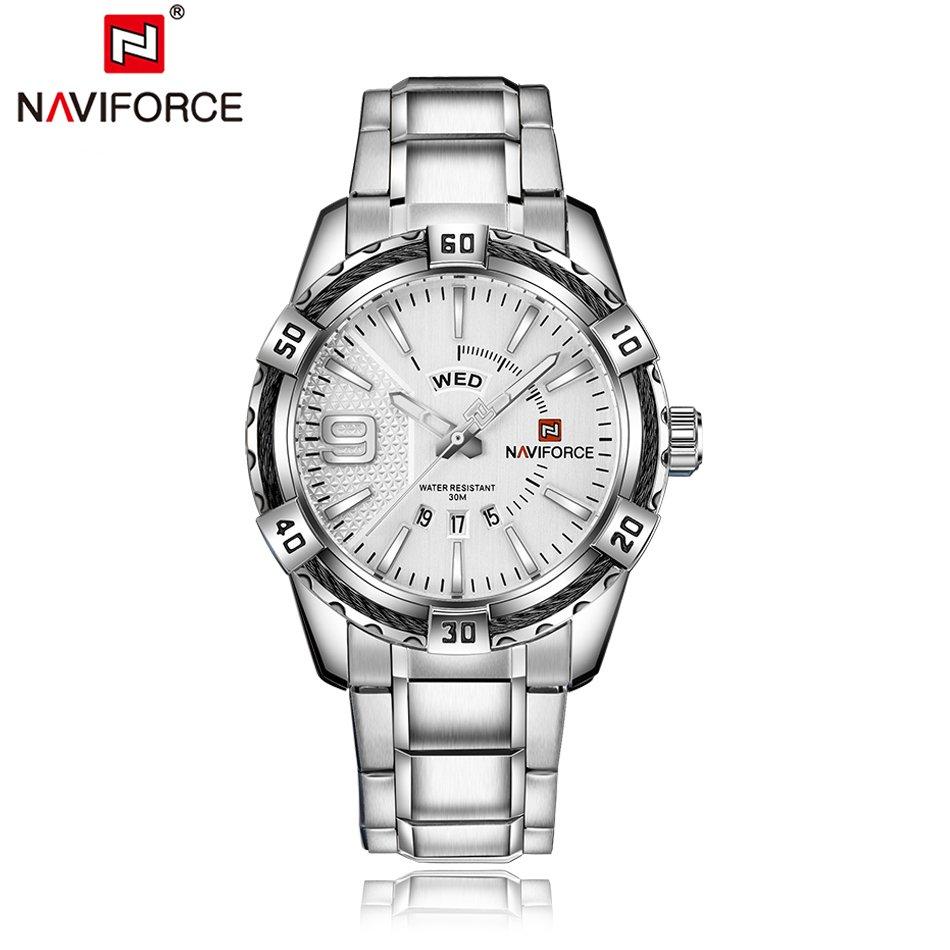 Zegarek Naviforce Rope srebrny 7