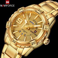 Zegarek Naviforce Rope złoty