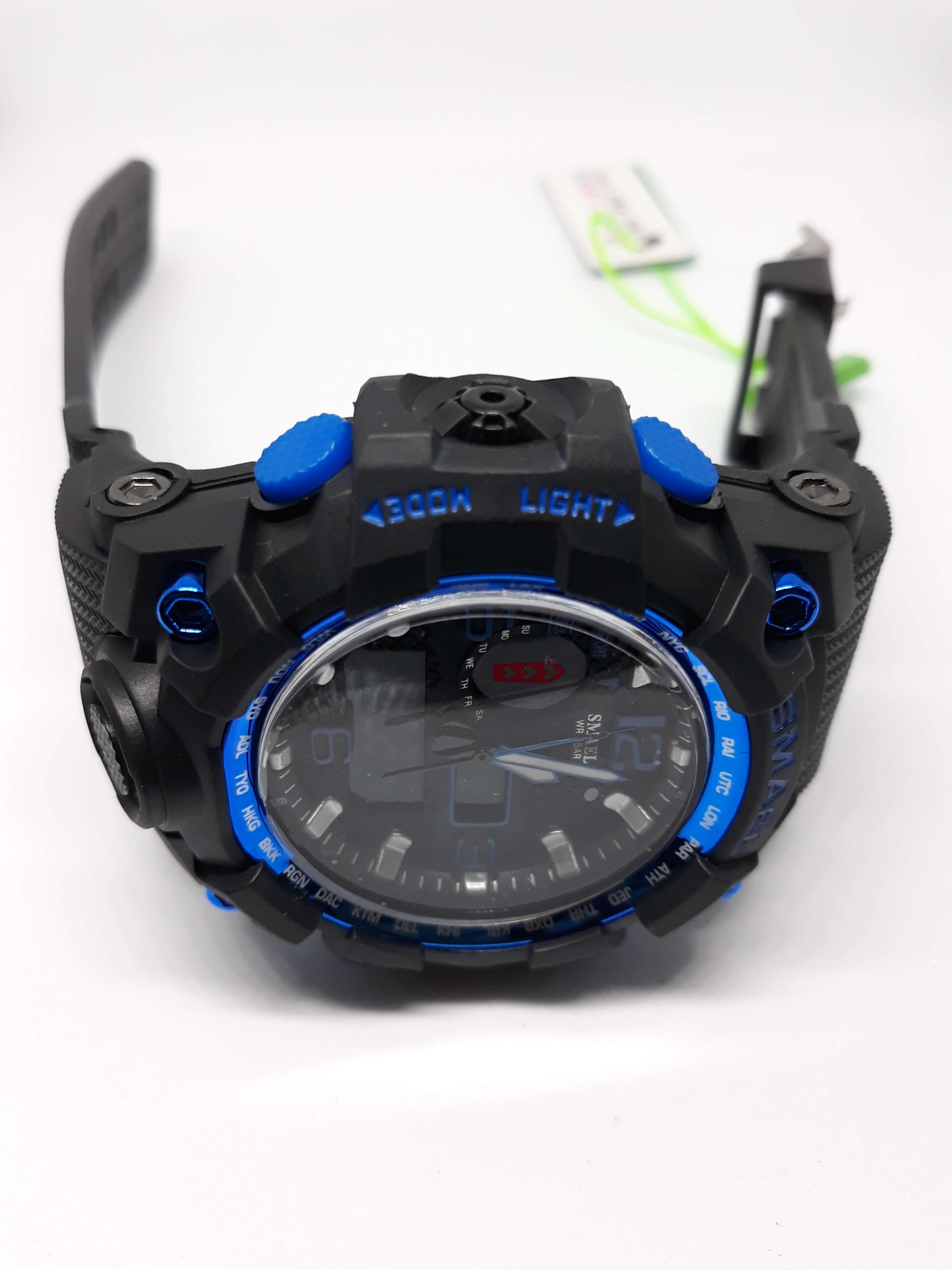 Zegarek Smael Camouflage niebieski czarny 10
