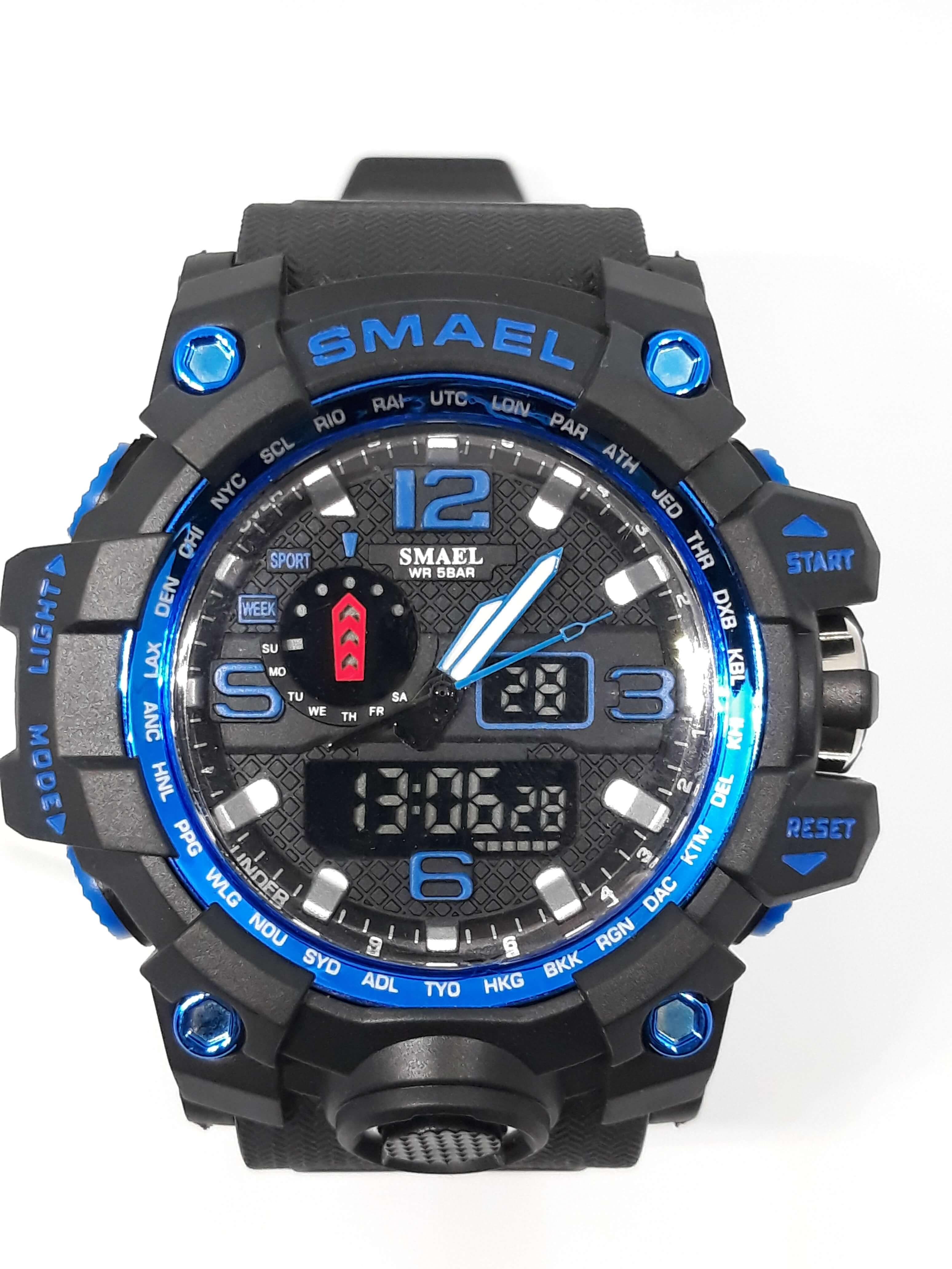 Zegarek Smael Camouflage niebieski czarny 18