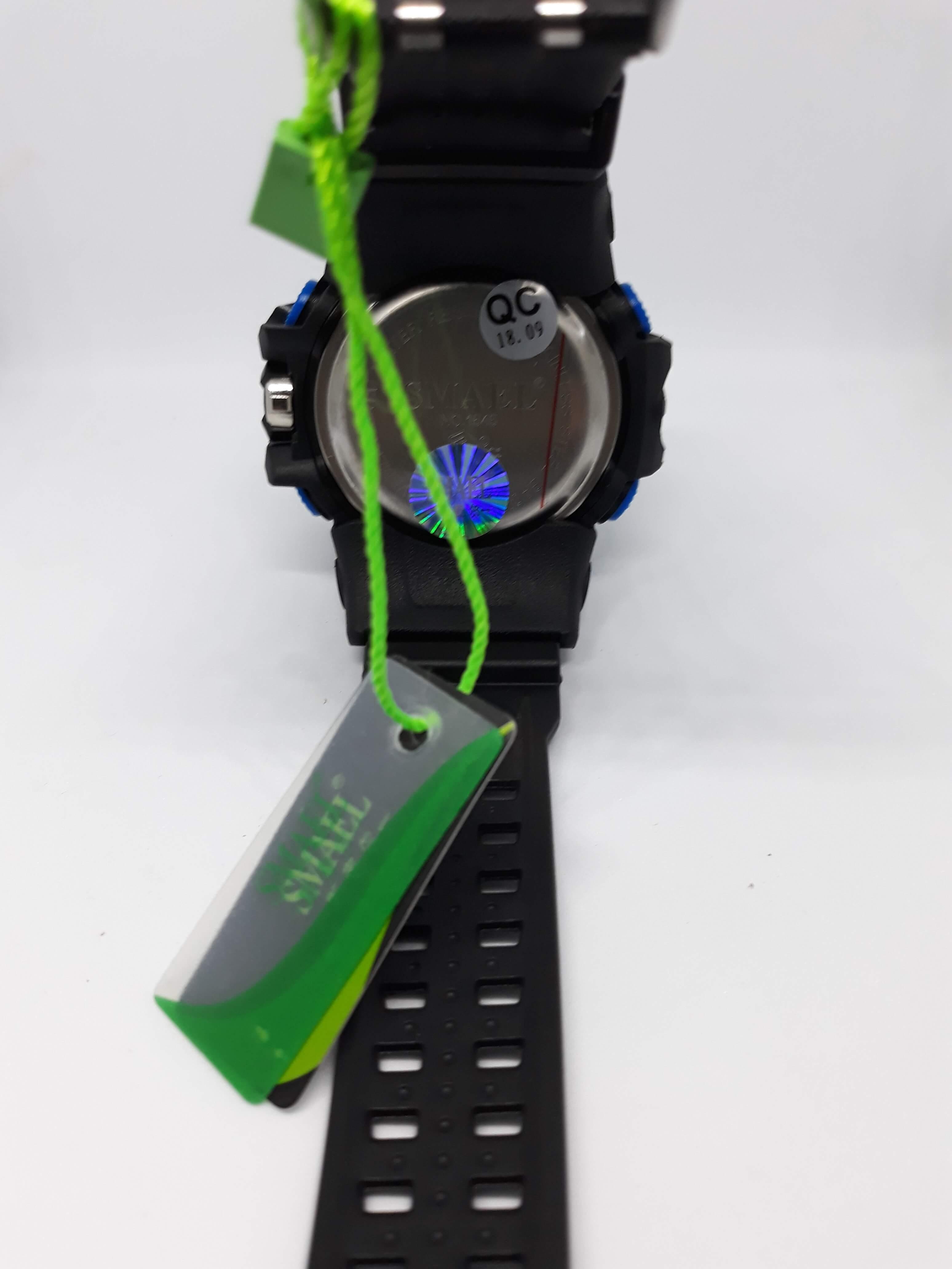 Zegarek Smael Camouflage niebieski czarny 12