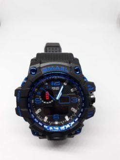 Zegarek Smael Camouflage niebieski czarny 6