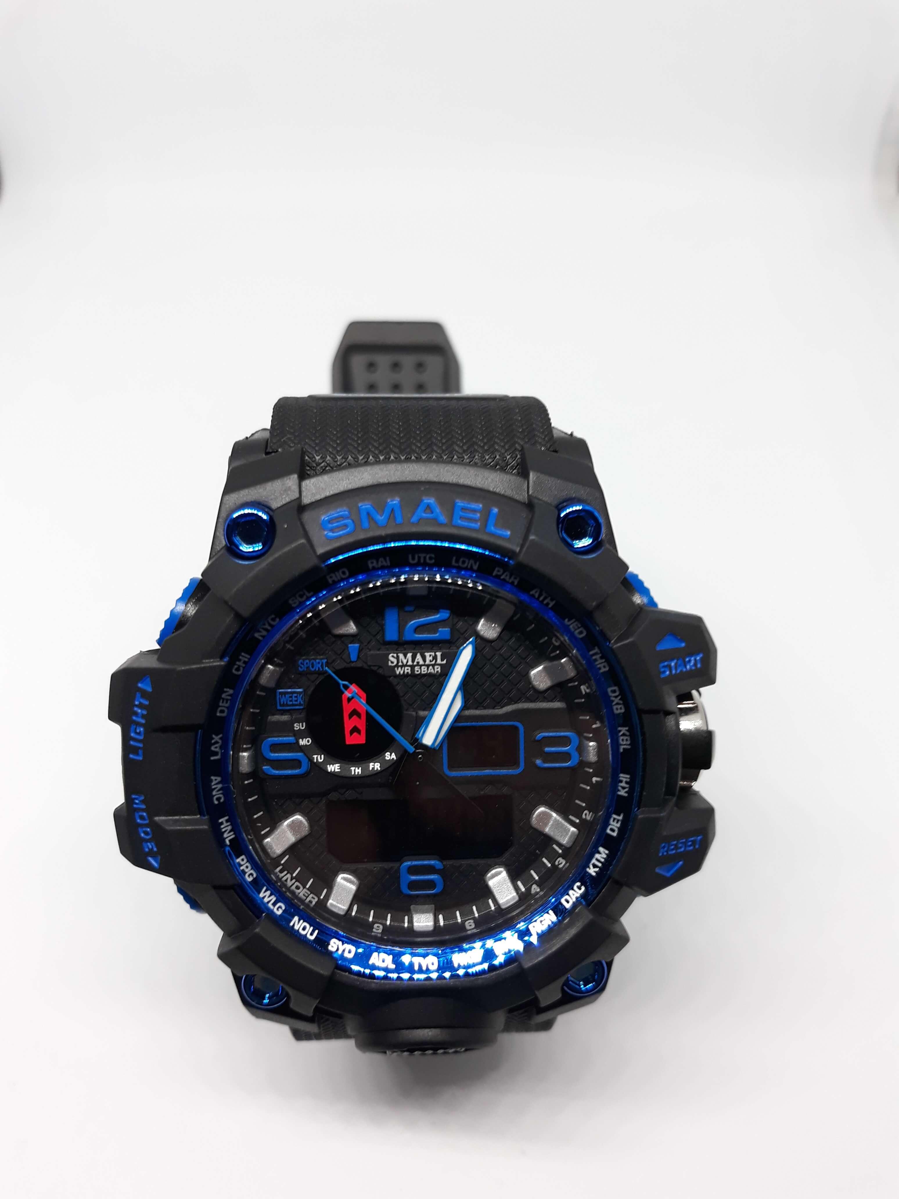 Zegarek Smael Camouflage niebieski czarny 14
