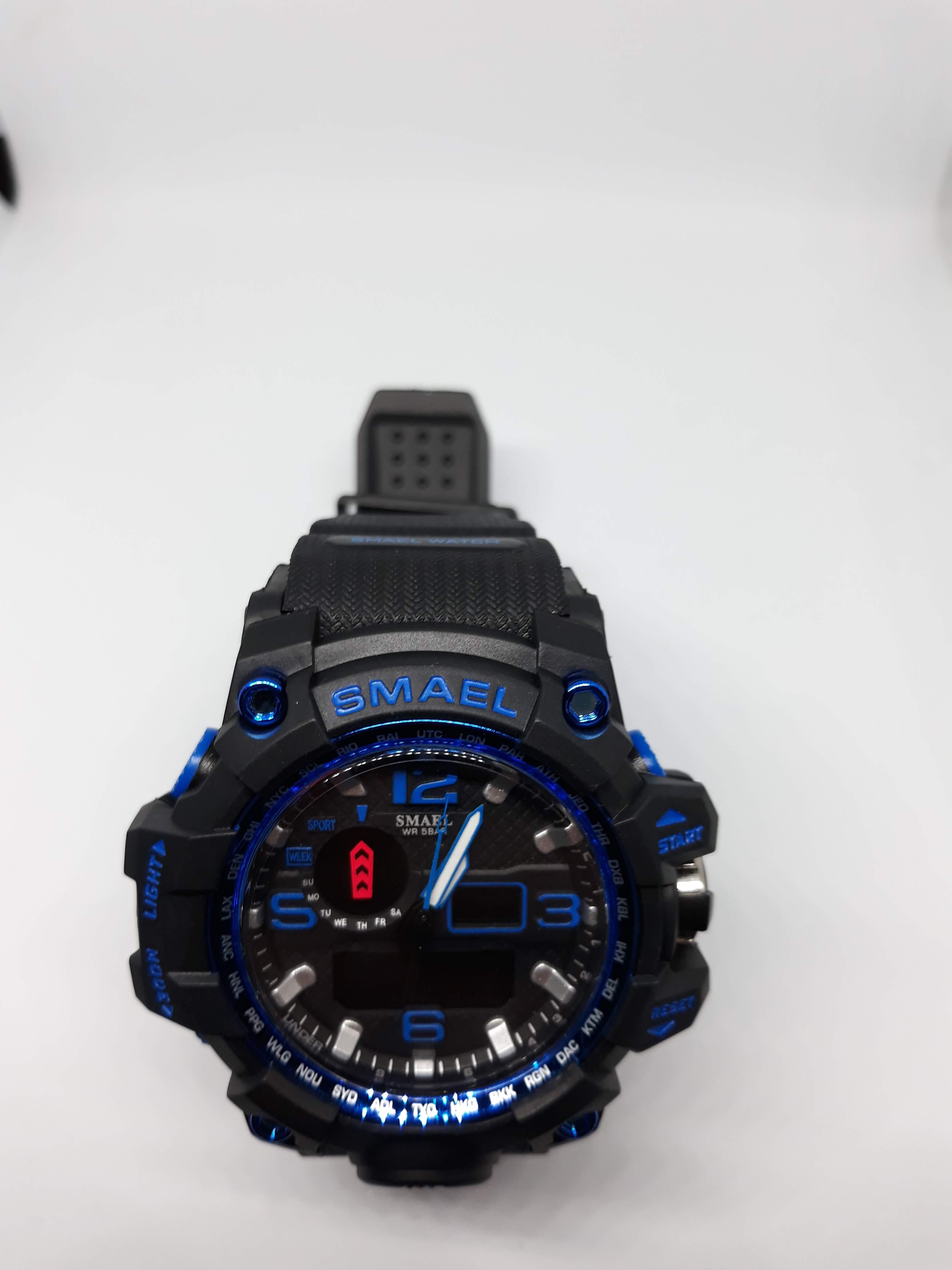 Zegarek Smael Camouflage niebieski czarny 15