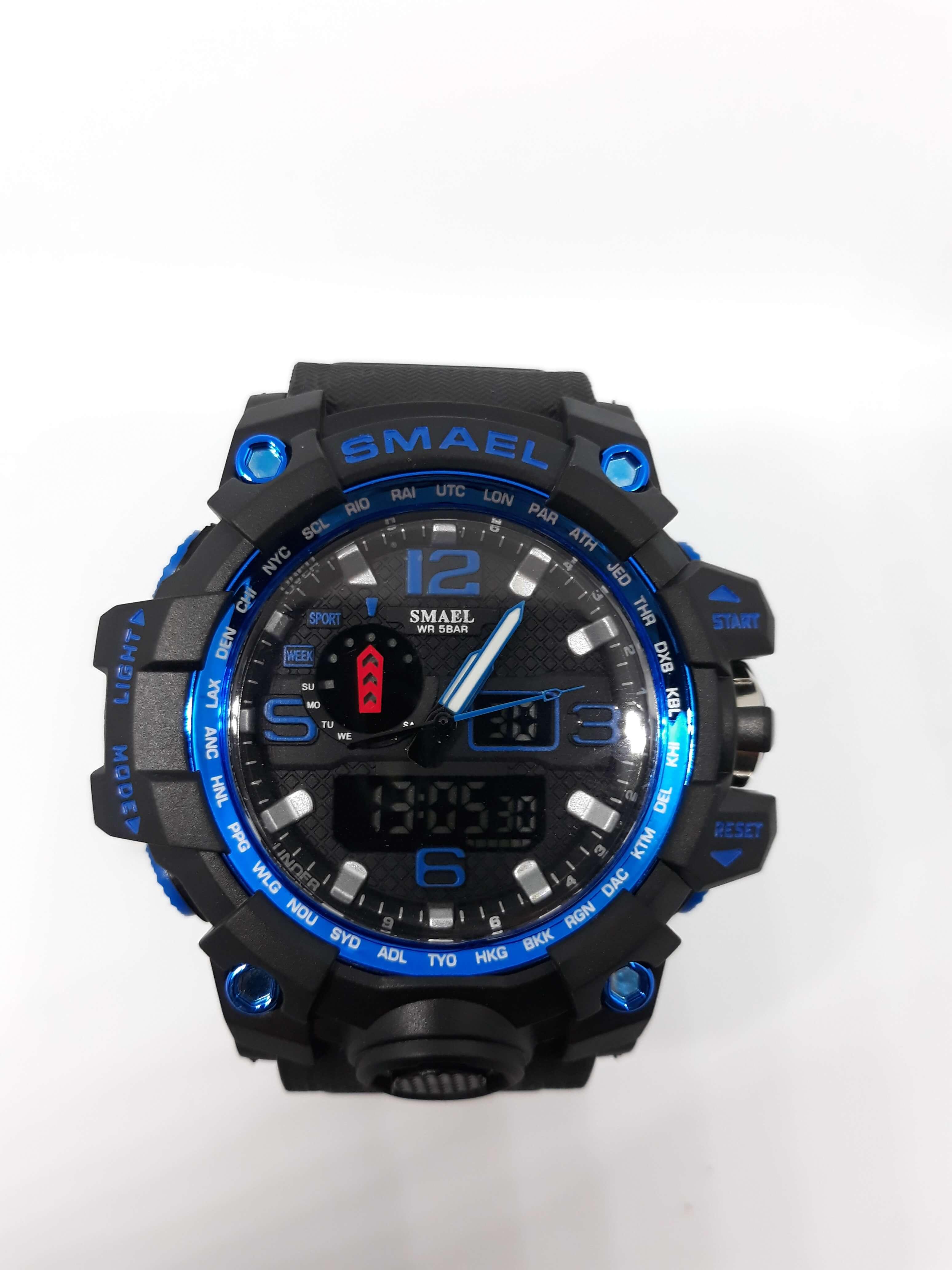 Zegarek Smael Camouflage niebieski czarny 16