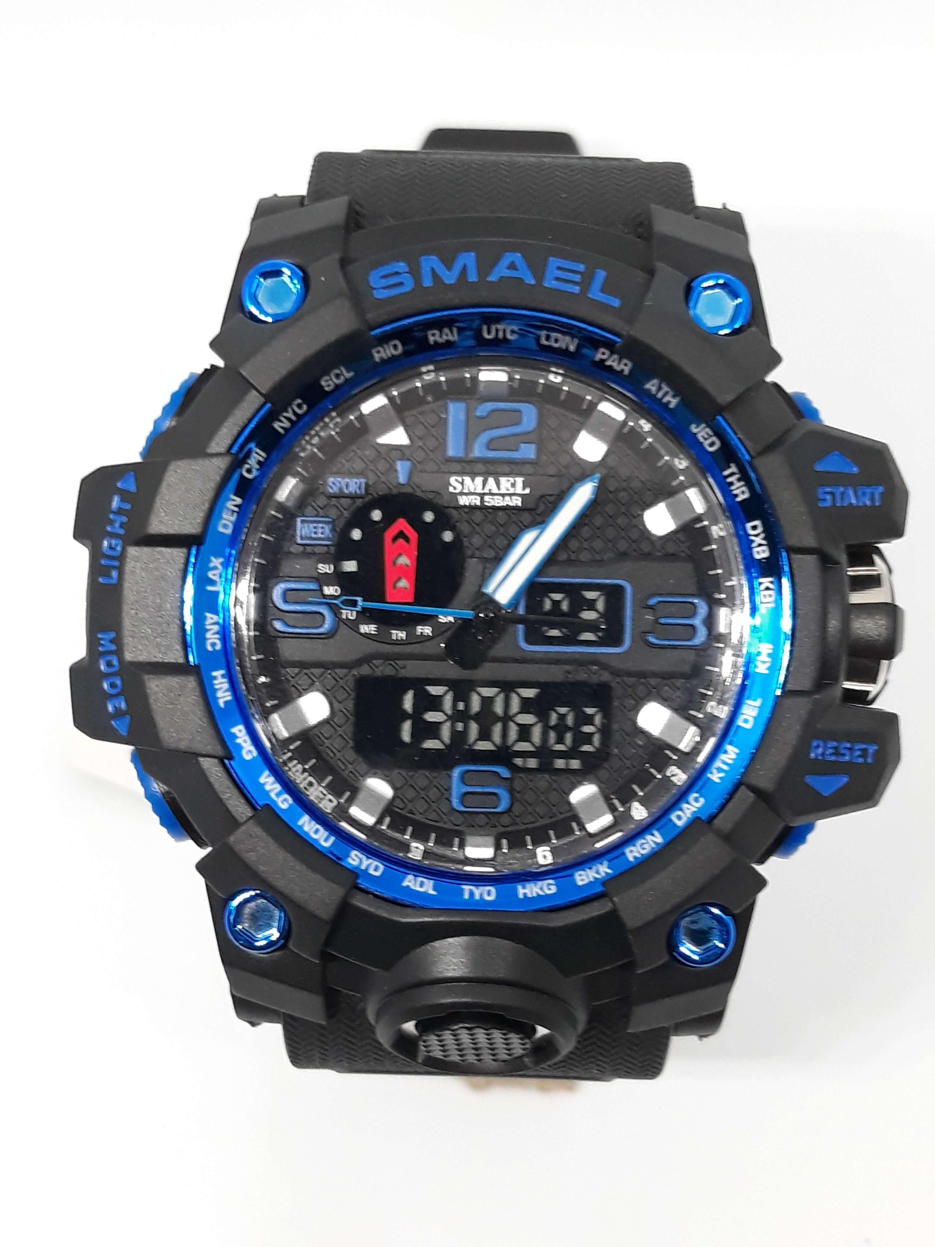 Zegarek Smael Camouflage niebieski czarny 17