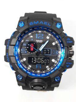 Zegarek Smael Camouflage niebieski czarny 1