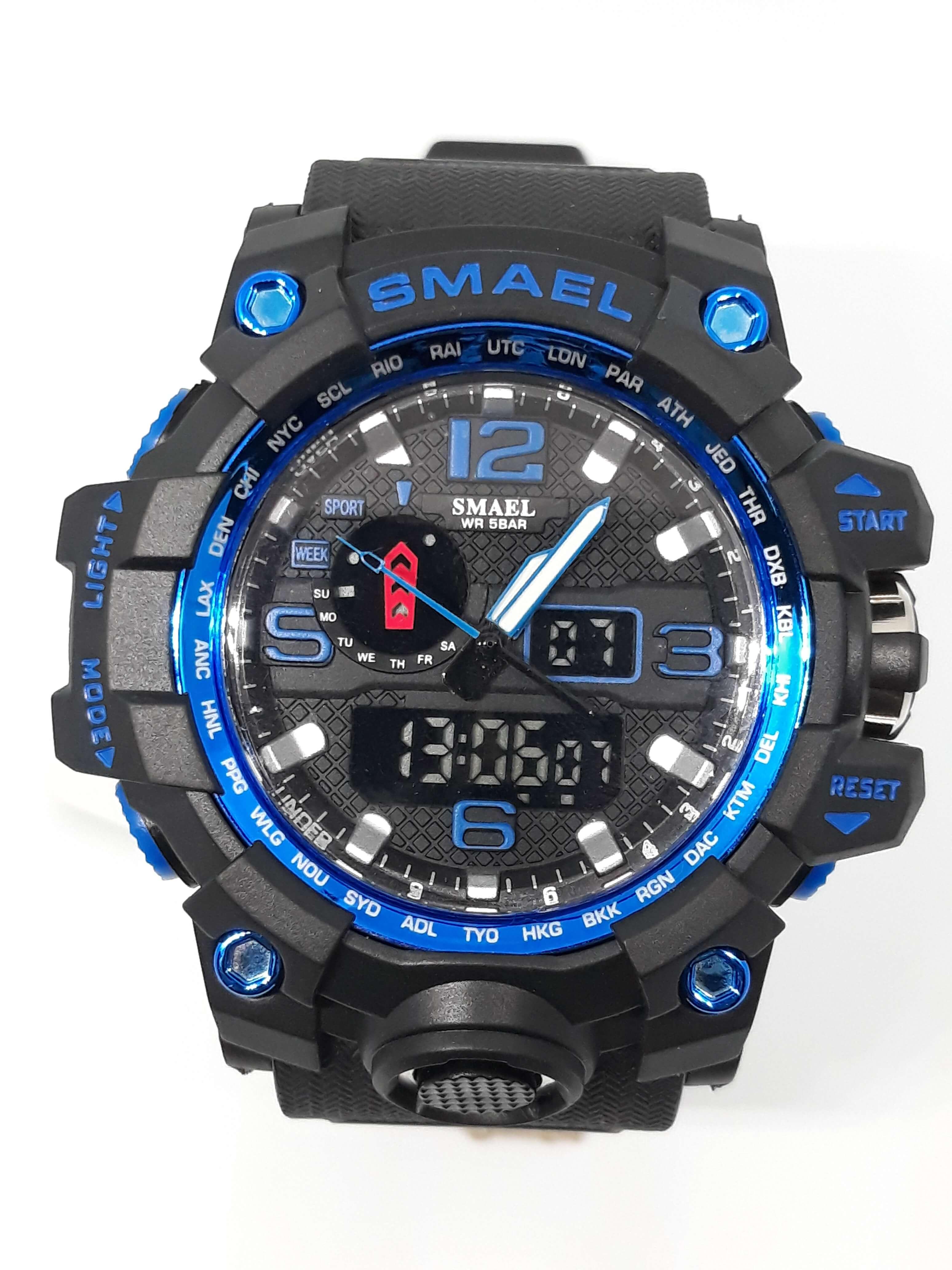 Zegarek Smael Camouflage niebieski czarny 9