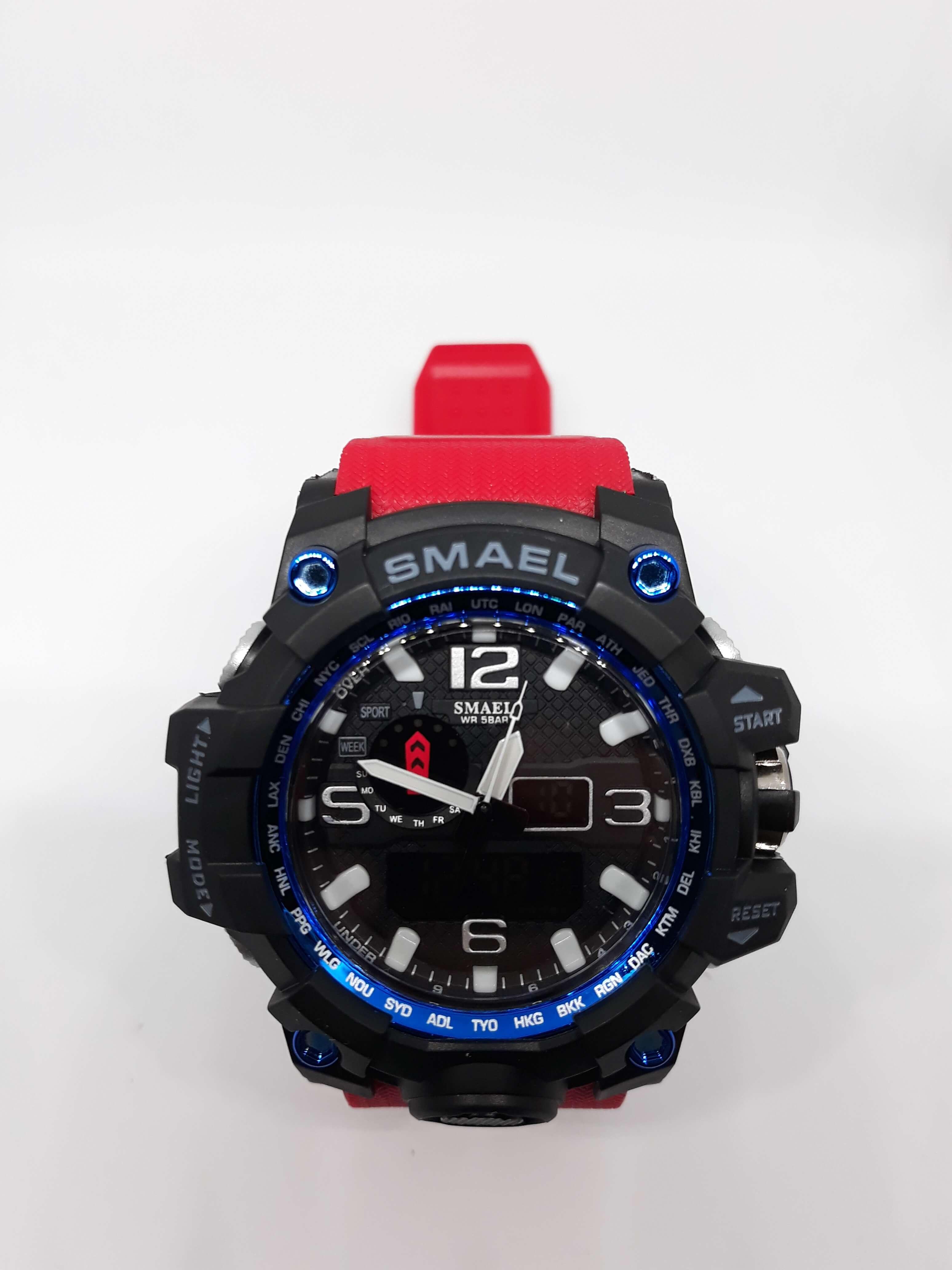 Zegarek Smael Camouflage czerwony 2