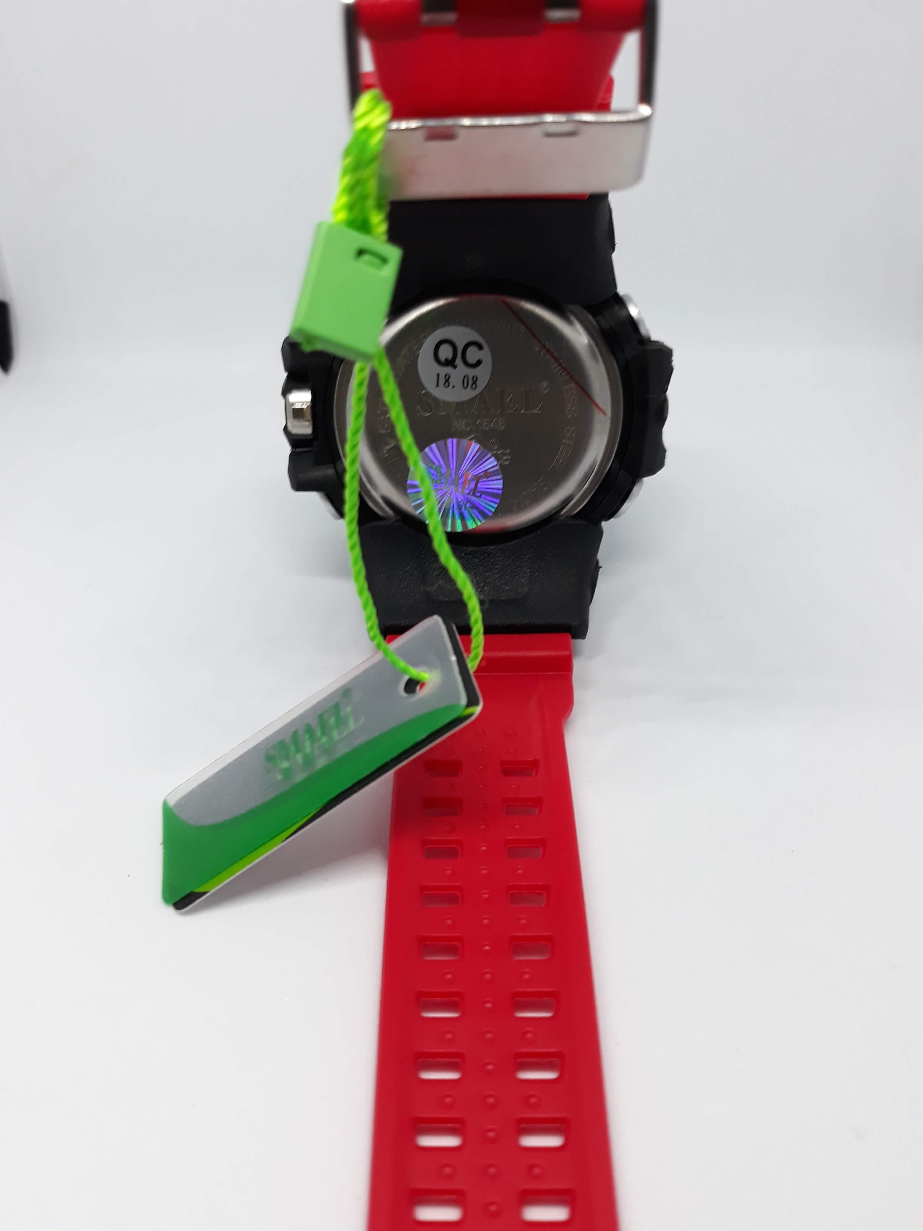 Zegarek Smael Camouflage czerwony 4
