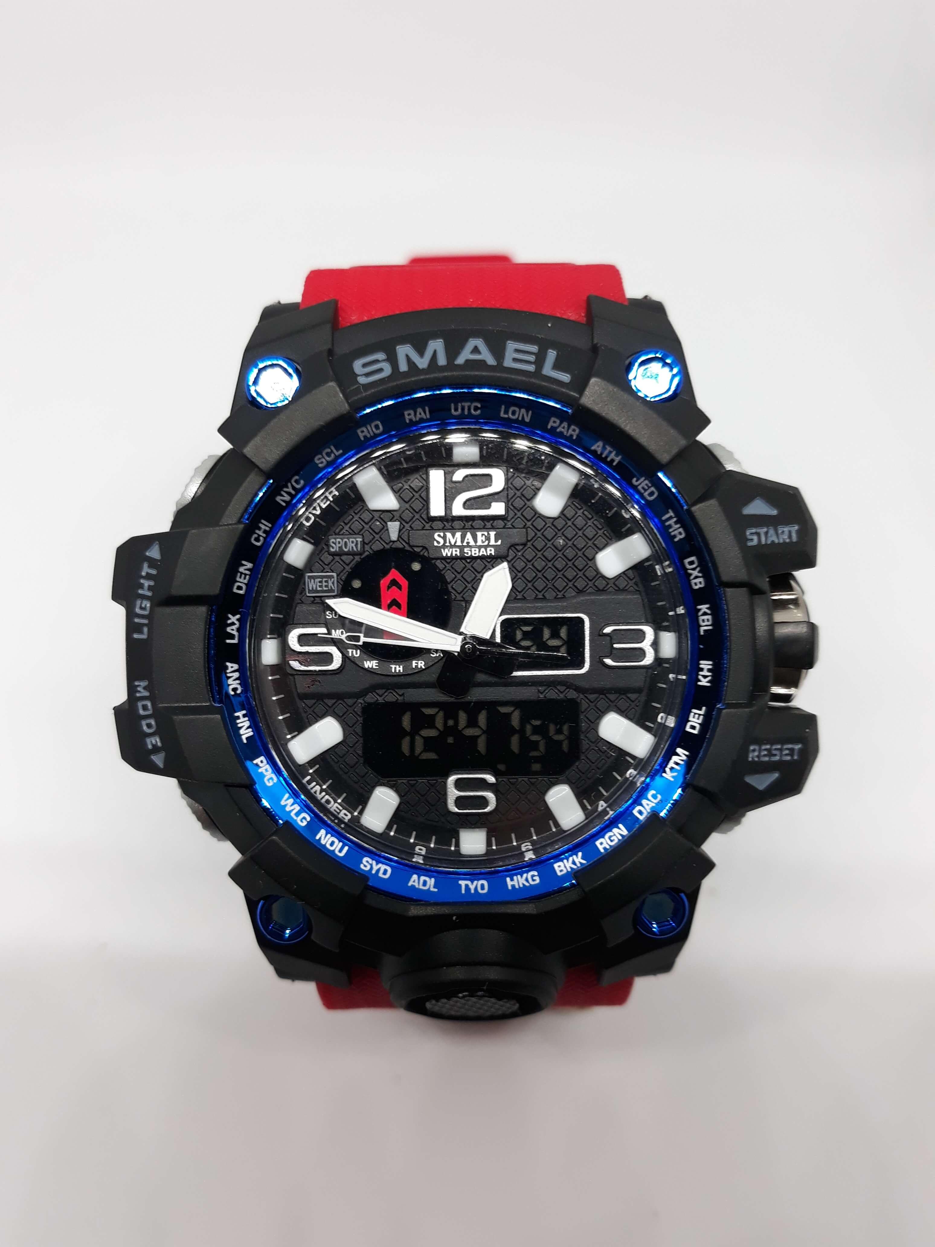 Zegarek Smael Camouflage czerwony 7