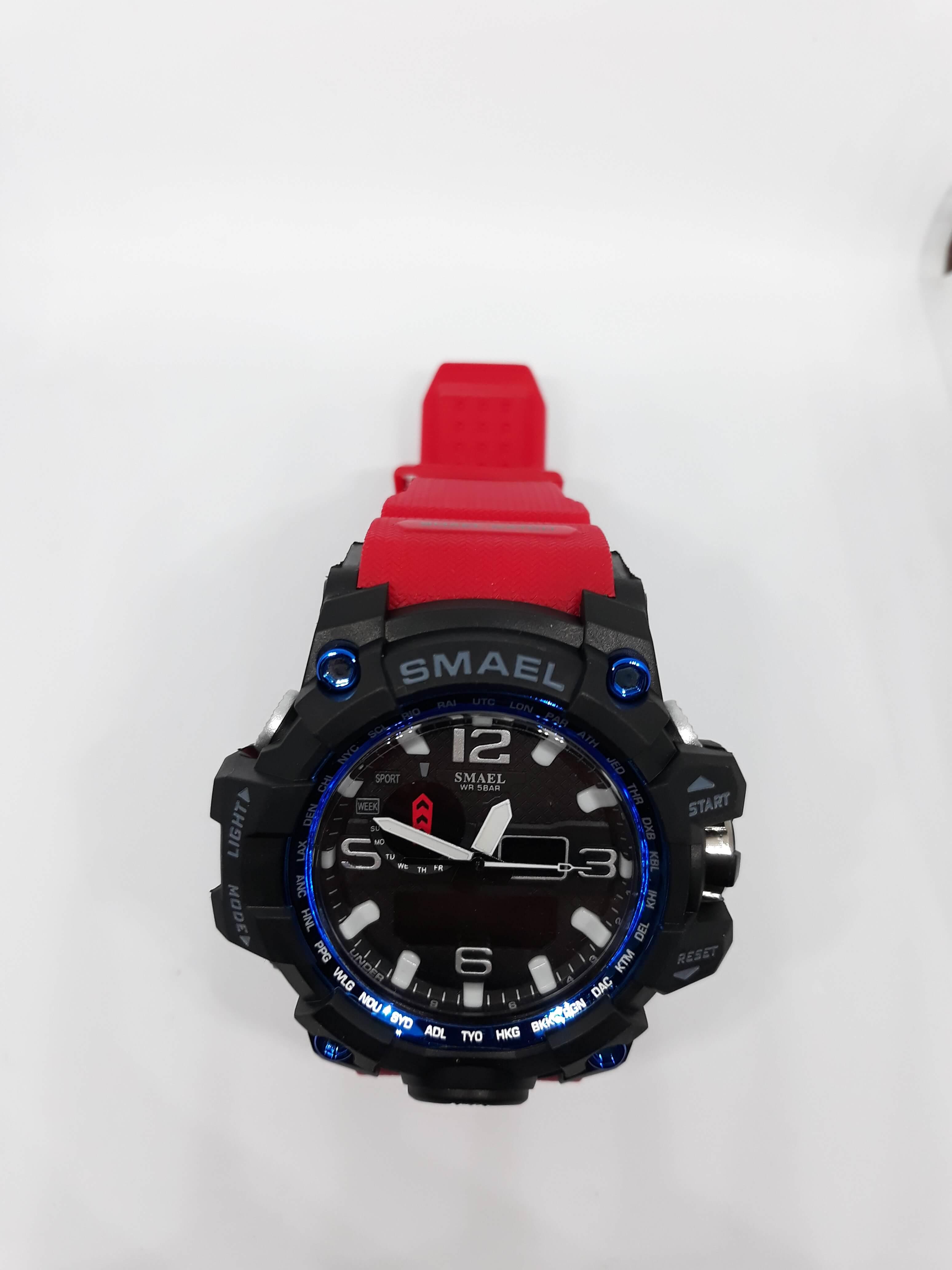 Zegarek Smael Camouflage czerwony 8