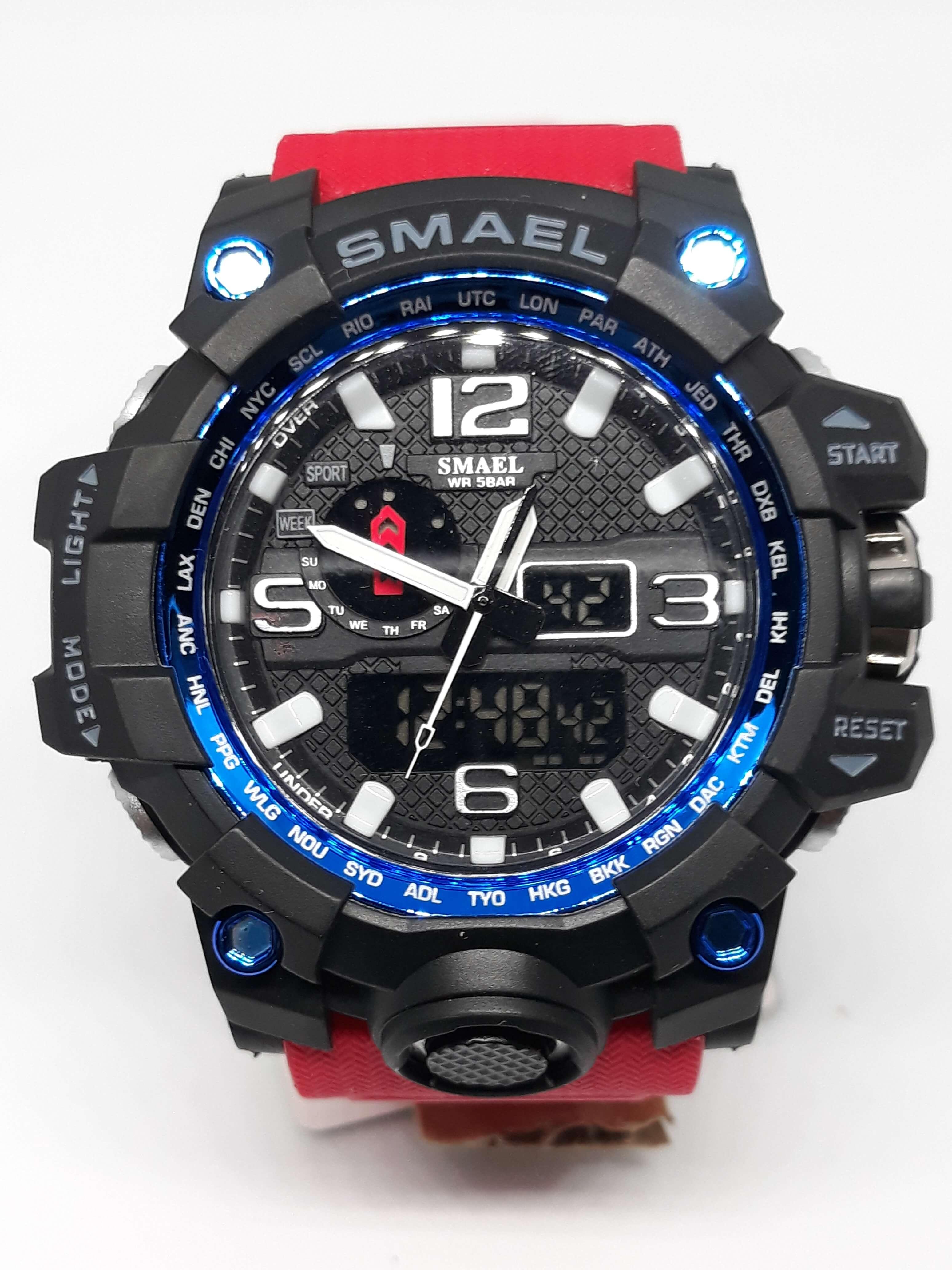 Zegarek Smael Camouflage czerwony 1