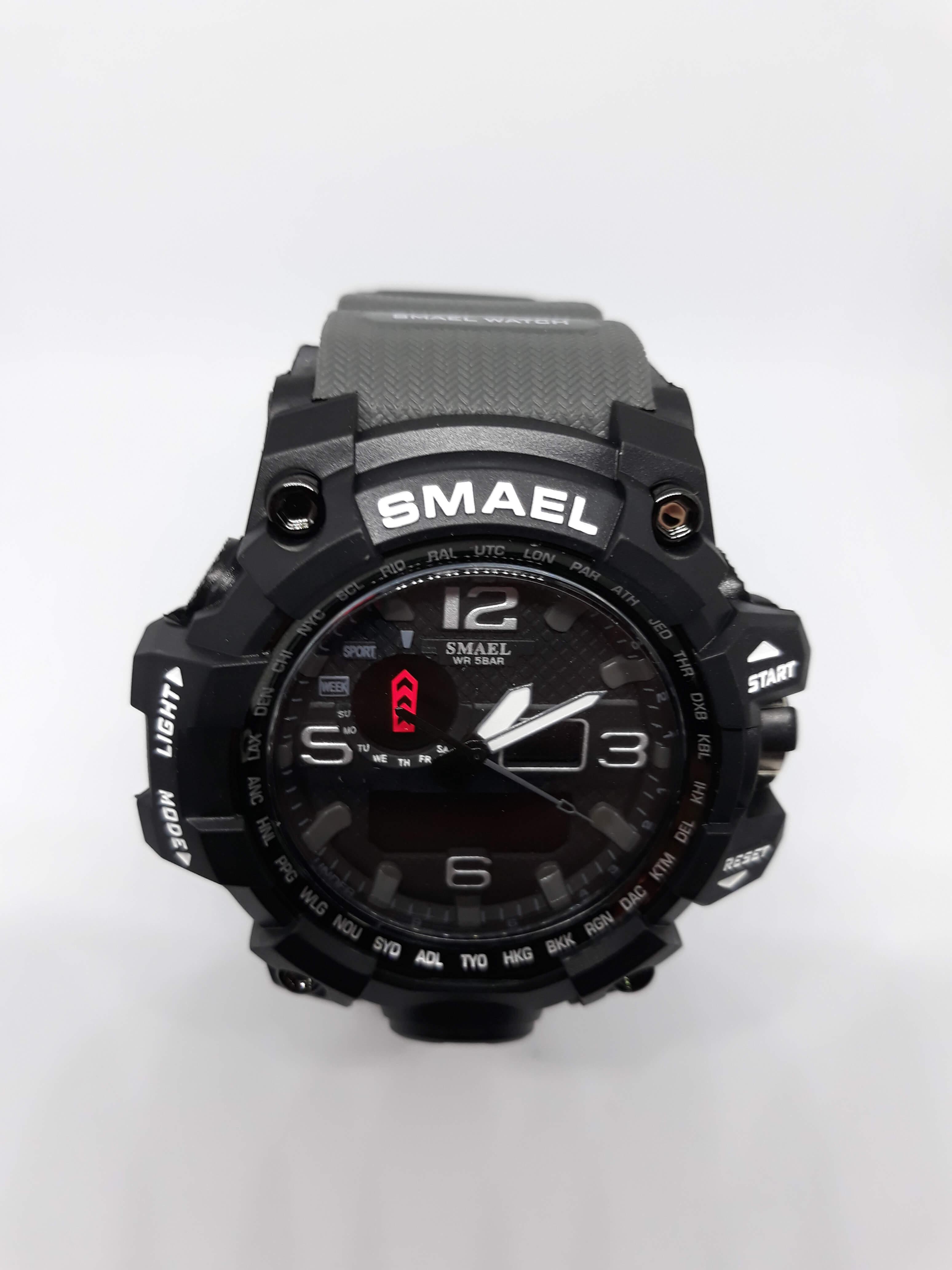 Zegarek Smael Camouflage szary 14