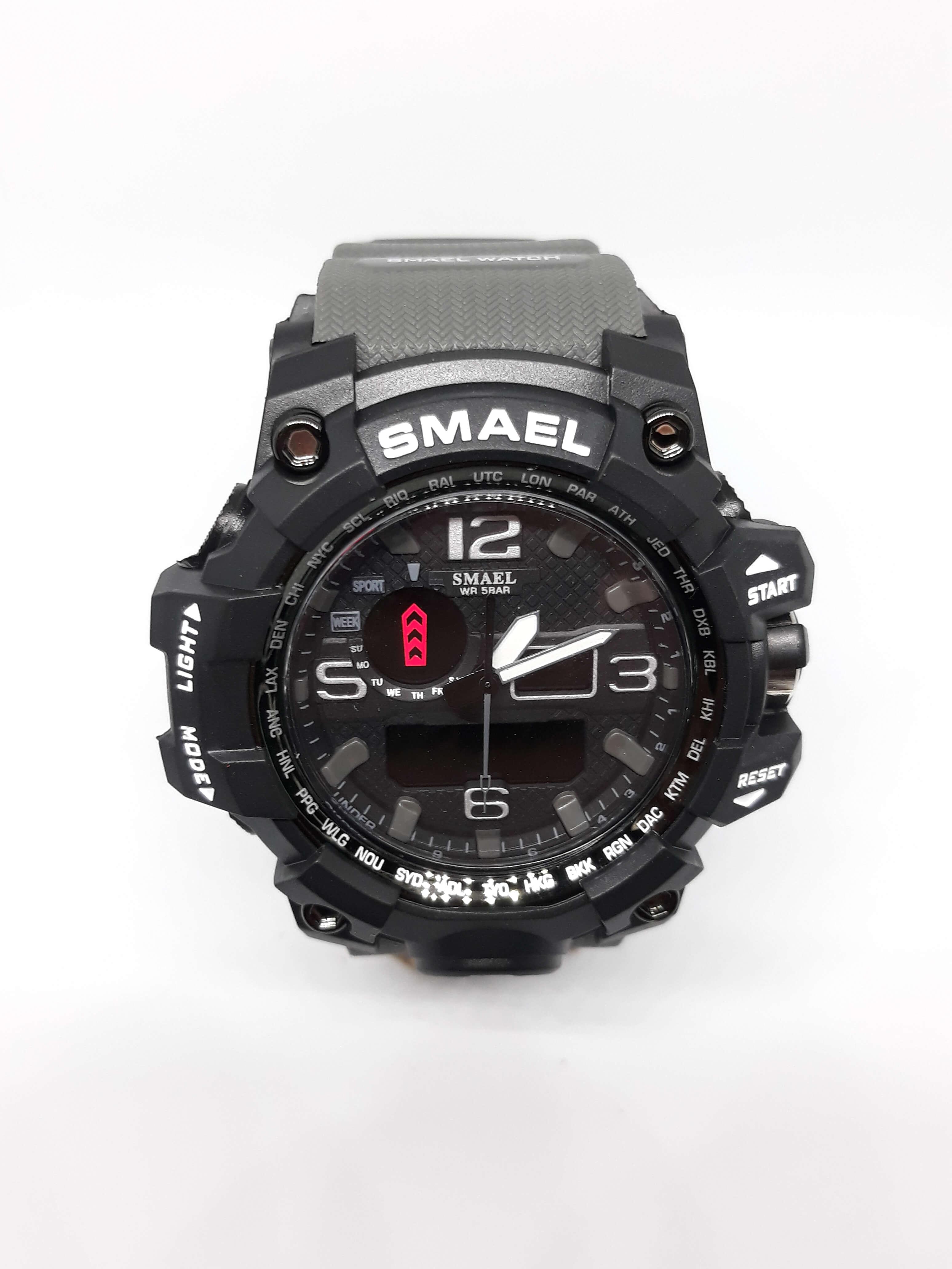 Zegarek Smael Camouflage szary 15