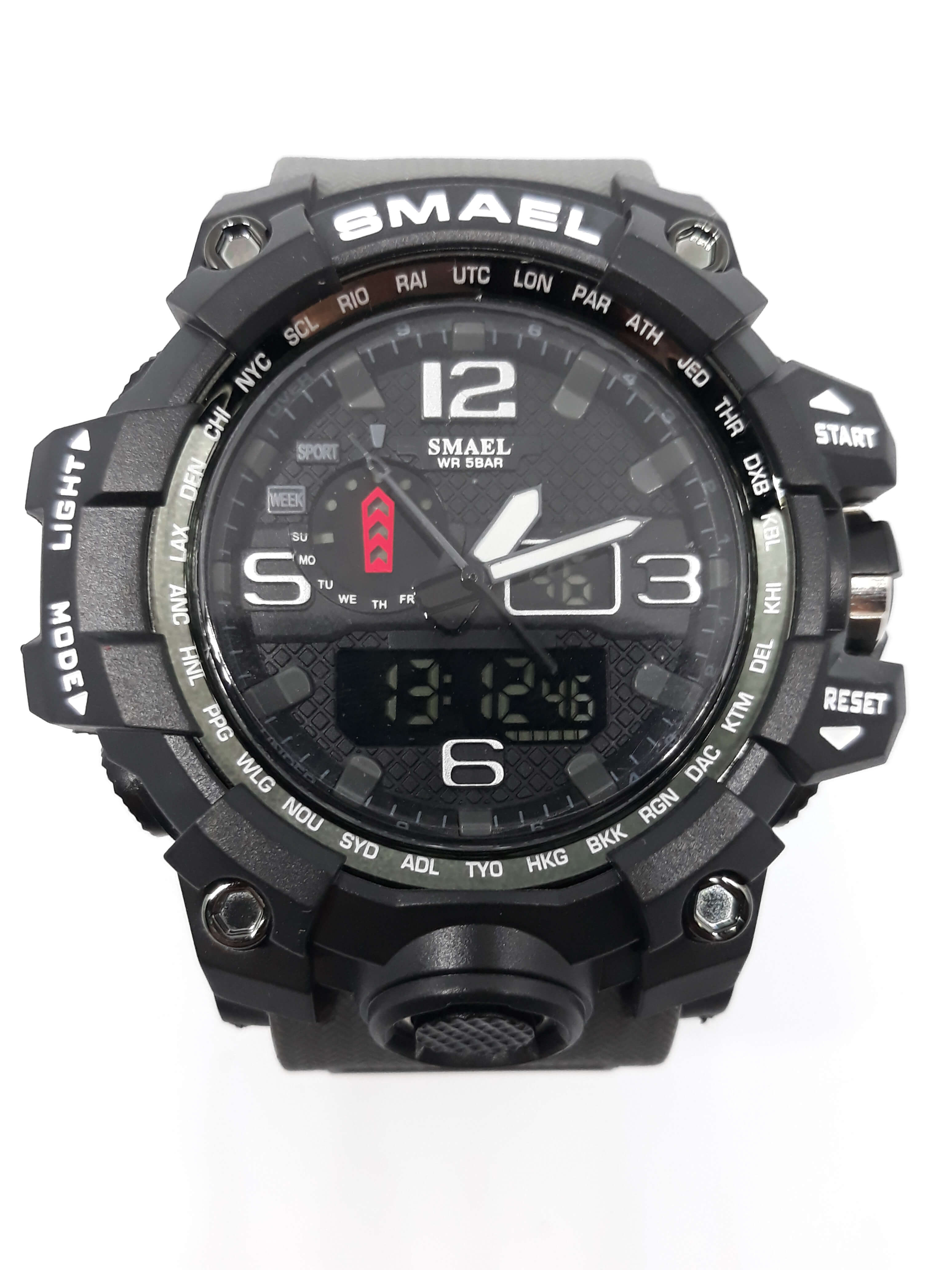 Zegarek Smael Camouflage szary 9