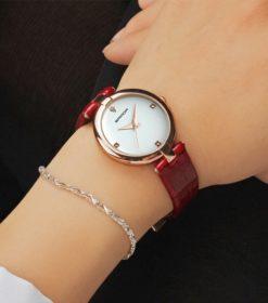 Zegarek Sanda Diamond czerwony biały 2