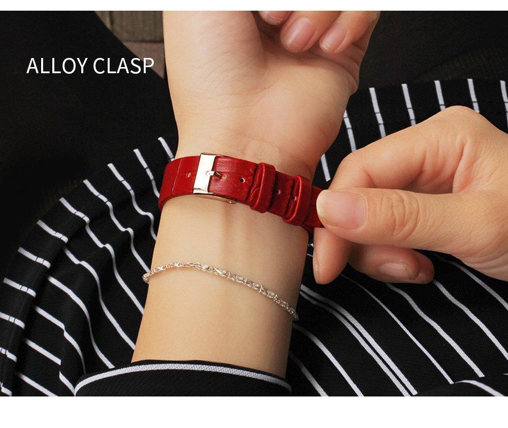 Zegarek Sanda Diamond czerwony czarny 9