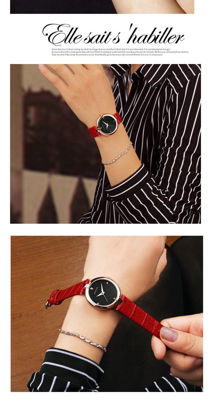 Zegarek Sanda Diamond czerwony czarny 11
