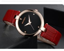 Zegarek Sanda Diamond czerwony czarny 5