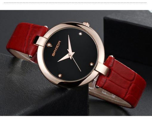 Zegarek Sanda Diamond czerwony czarny 1