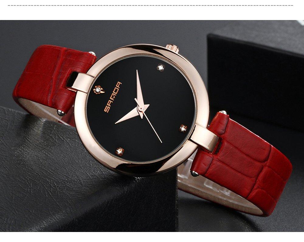 Zegarek Sanda Diamond czerwony czarny 15