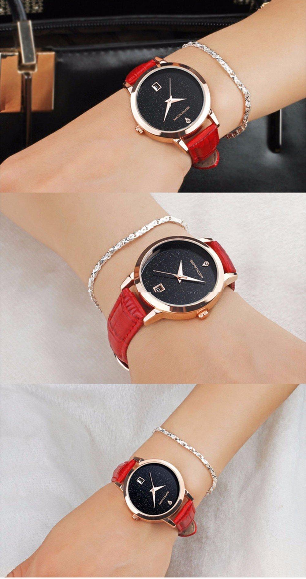 Zegarek Sanda Jane czerwony 8