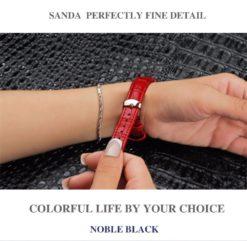 Zegarek Sanda Jane czerwony 2